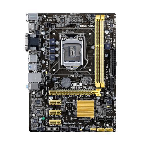 ASUS H81M-PLUS, H81, DualDDR3-1600, SATA3, HDMI, DVI, mATX
