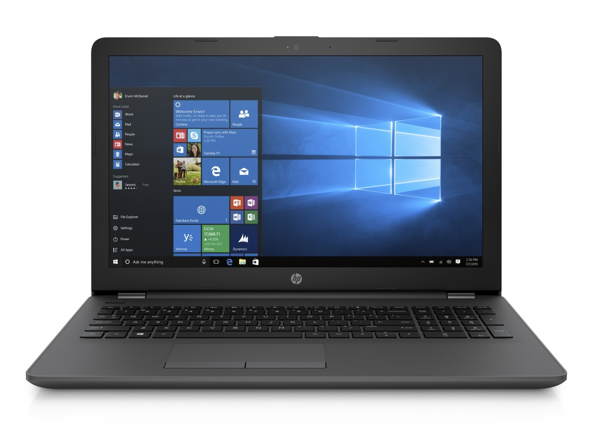 HP NB 250 G6 i5-7200U 15.6 FHD 4GB 256SSD DVDRW W10 black