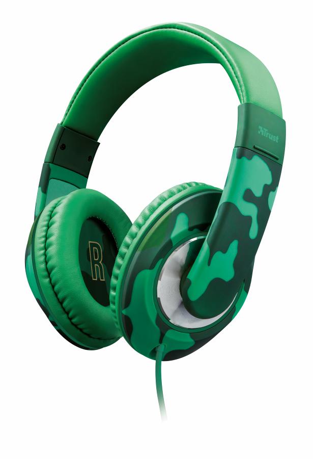 TRUST Sonin Kids Headphone náhlavní sada - jungle