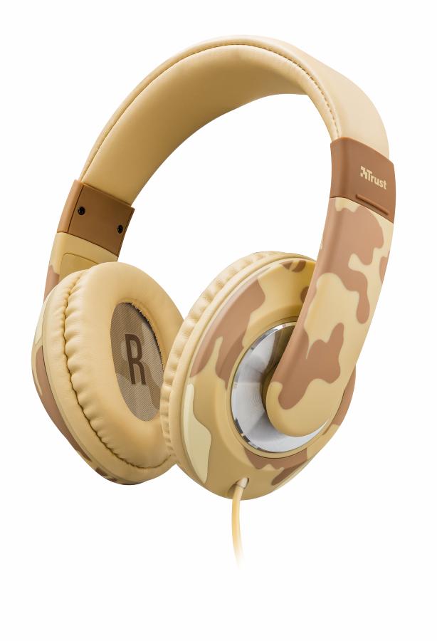 Trust Sonin Kids Headphone náhlavní sada - desert