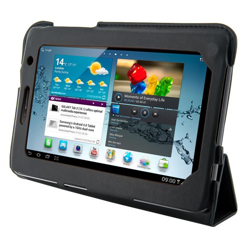 4World Pouzdro - stojan pro Galaxy Tab 2, 4-Fold Slim, 7'', černý