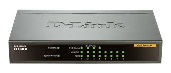 D-Link DES-1008PA 8x10/100 Desktop Switch, 4xPoE
