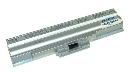 Náhradní baterie AVACOM Sony VGN-FW11, VGP-BPS13 Li-ion 11,1V 5200mAh/58Wh stříbrná