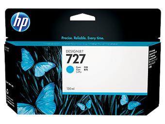 HP B3P19A No. 727 Cyan Ink Cart pro DSJ T920, 130ml