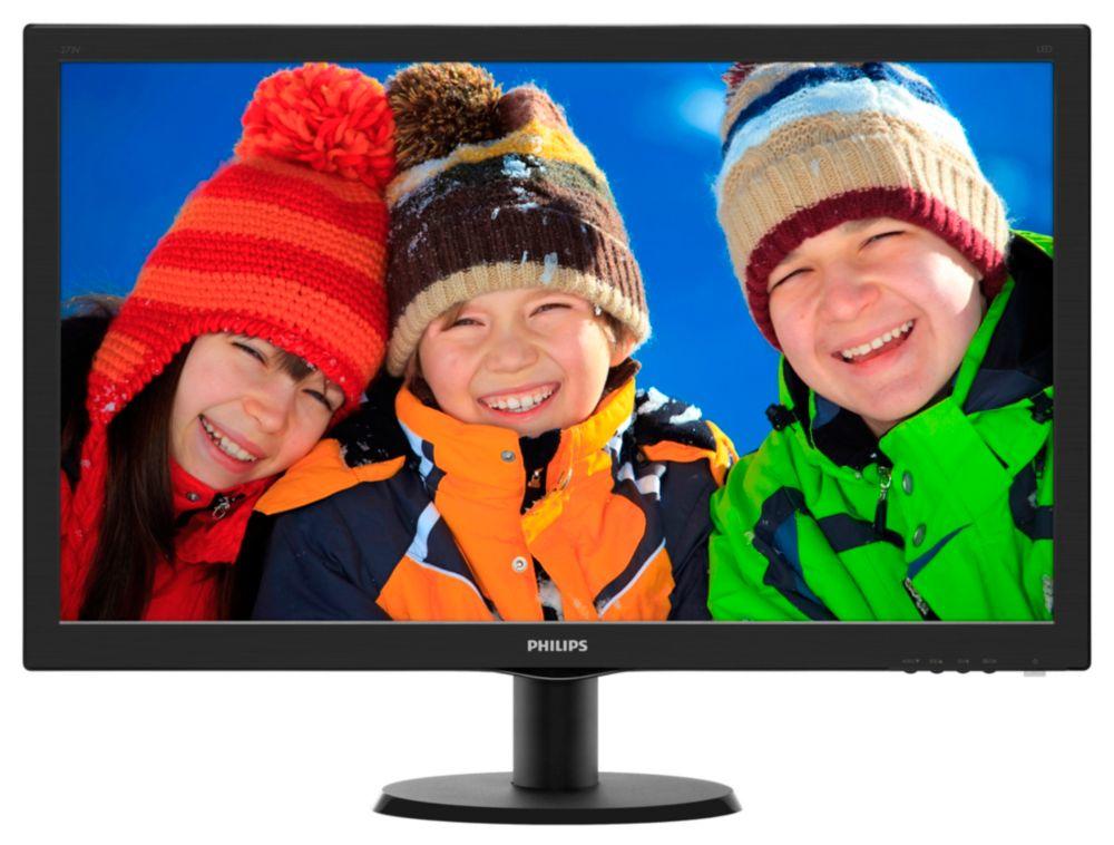 "27"" LED Philips 273V5LHSB - Full HD, HDMI"