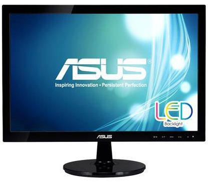 "ASUS VS197DE LED WIDE 18,5"" 16:9/1366*768/200cd/m /50m:1/5ms/D-SUB"