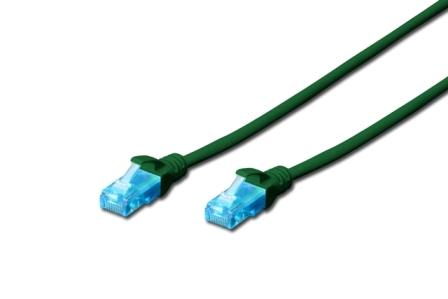 Digitus Ecoline Patch Cable, UTP, CAT 5e, AWG 26/7, zelený 5m, 1ks