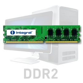 INTEGRAL 1GB 667MHz DDR2 ECC CL5 R1 DIMM 1.8V