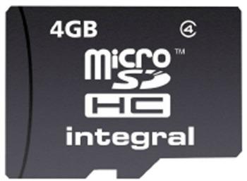 INTEGRAL Micro SDHC karta 4GB Class 4