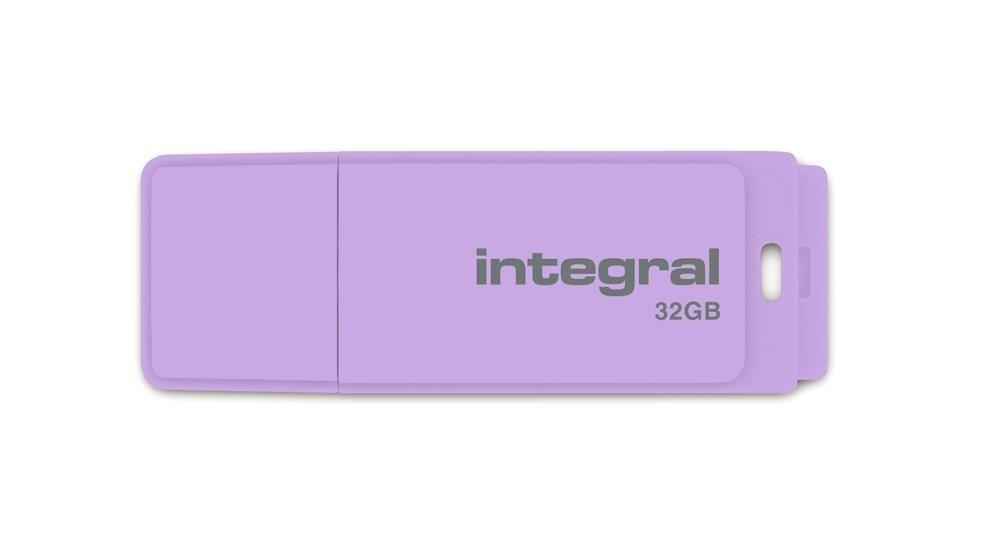 INTEGRAL Pastel 32GB USB 2.0 flashdisk, Lavender Haze