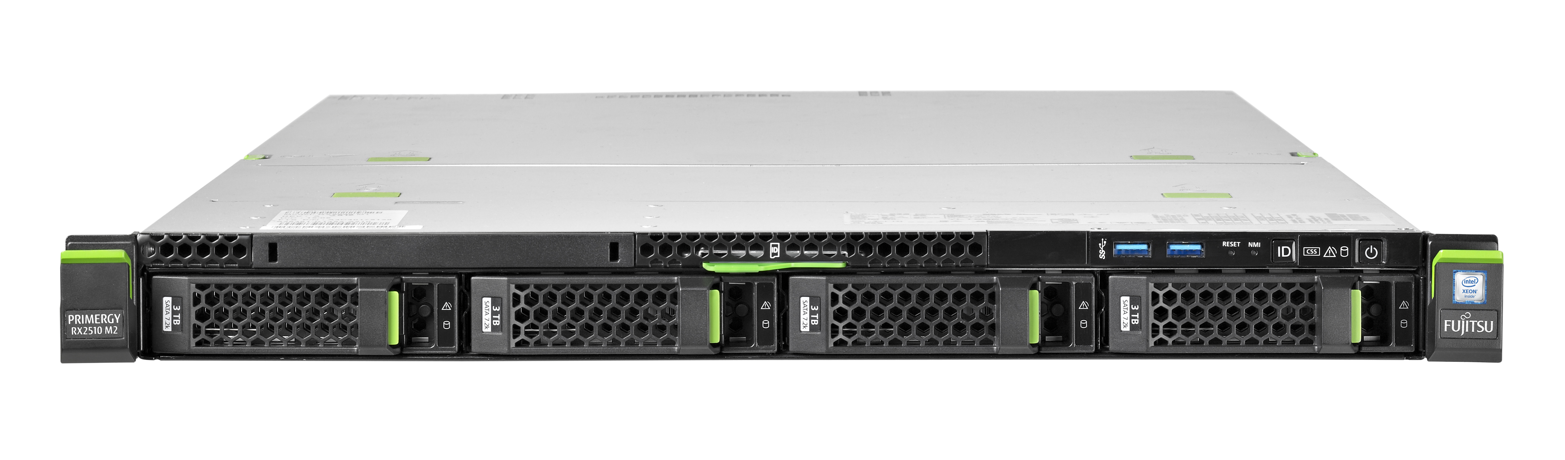 """Fujitsu PRIMERGY RX2510 M2 4x3,5""""/1U/E5-2620v4 8C/16T/8GB/noHDD/RAID 0,1/2xGL/450W/SYM"""