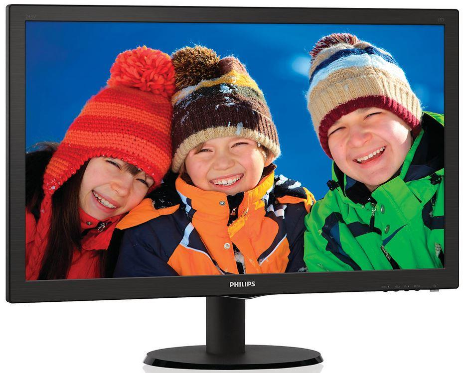 "Philips LCD 243V5LHAB 23,6""wide/1920x1080/1ms/10mil:1/HDMI/LED/repro"