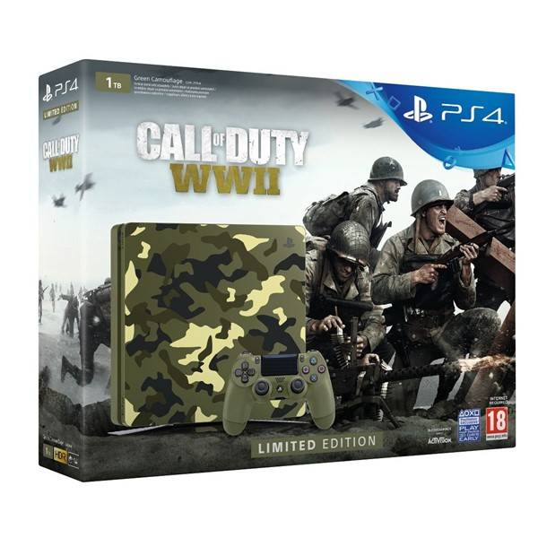 PS4 - Playstation 4 1TB kamufláž + COD WWII + That´s you