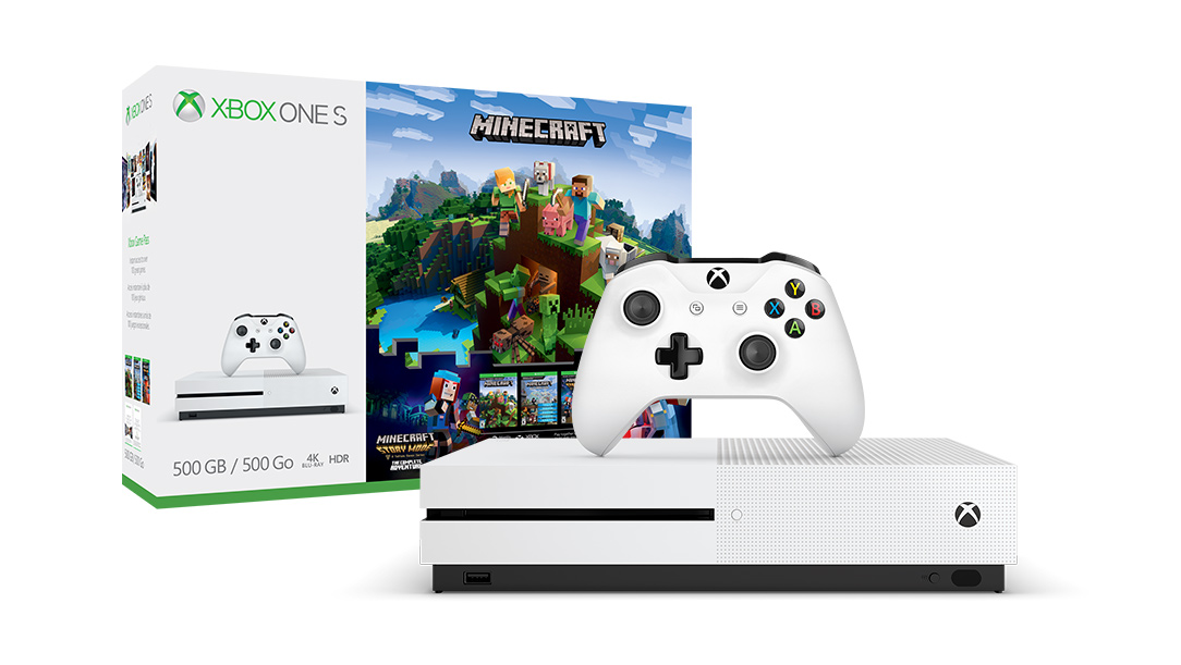 XBOX ONE S 500 GB + Minecraft + Minecraft Story Mode