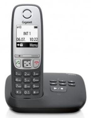 SIEMENS Gigaset A415A - DECT/GAP bezdrátový telefon se záznamníkem, barva černá