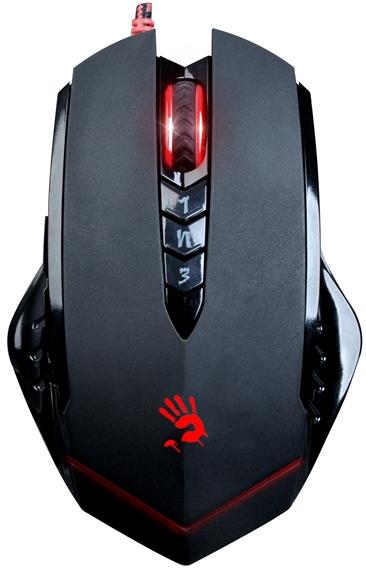 A4tech BLOODY V8 herní myš, až 3200DPI, HoleLess technologie, 160KB paměť, USB, CORE 3, kovové podložky