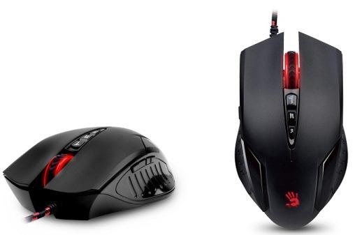A4tech BLOODY V5 Core2 s kovovýma nožičkama, herní myš, až 3200DPI, HoleLess technologie, 160KB paměť