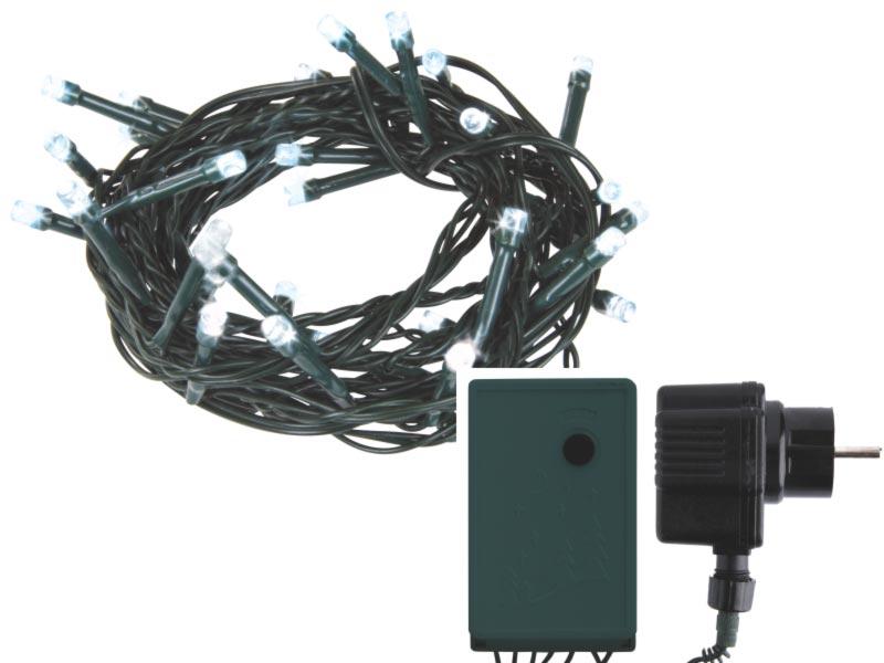 Emos LED dekorační řetěz LED-128 CW, 128x LED, 6.4 m, IP44, 8 funkcí, studená bílá