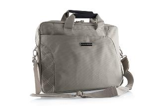 """Modecom brašna GREENWICH na notebooky do velikosti 15,6"""", béžová, dámská, kovové přezky"""