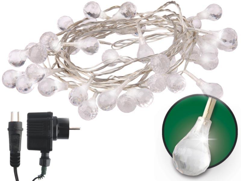 Emos LED dekorační řetěz LED-40 CW, 40x LED - kapky, 4 m, IP44, studená bílá