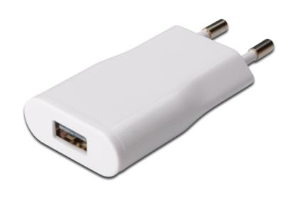 Ednet USB rychlo-nabíječka slim typ, 5W, výstup 5V/1A, barva bílá