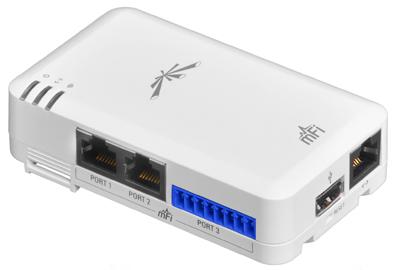 UBNT mFi mPort [2xRJ45, Terminal-block, Ethernet, WiFi]