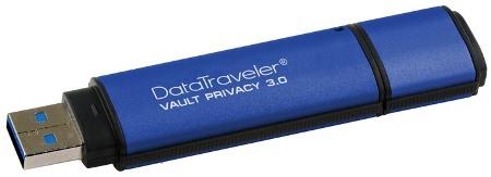 Kingston DataTraveler Vault Privacy 3.0 32GB USB 256bit AES plné šifr., hliník