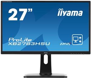 "27"" LCD iiyama XB2783HSU-B1 -AMVA+,4ms,300cd/m2,3000:1,FHD,VGA,DVI,HDMI,USB,repro,pivot,výšk.nastav."
