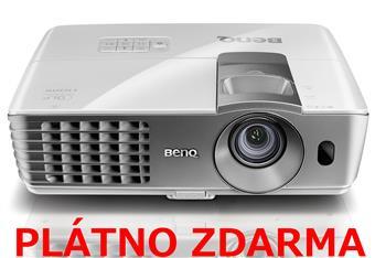BenQ DLP Projektor W1070/1080p/2000ANSI/10 000:1/2xHDMI/3D/1x10W repro