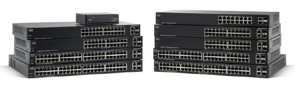 Cisco switch SG200-26FP, 24x10/100/1000 (PoE) + 2xGE/SFP, VLAN, PoE