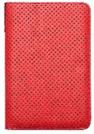 POCKETBOOK pouzdro pro 614/623/624/626, DOTS, červené