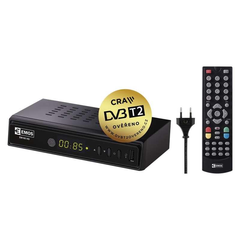 FULL HD DVB-T2 PŘIJÍMAČ EM-180