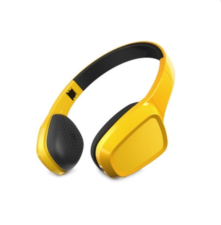 ENERGY Headphones 1 Yellow Mic, stylová sluchátka, audio jack 3,5mm, 93 ±3 dB