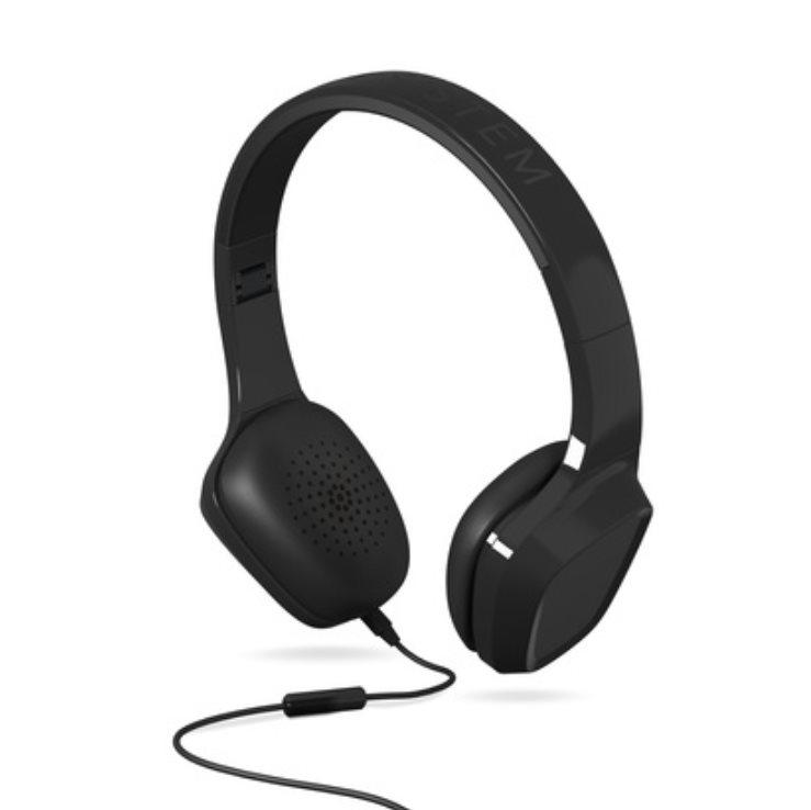 ENERGY Headphones 1 Black Mic, stylová sluchátka, audio jack 3,5mm, 93 ±3 dB