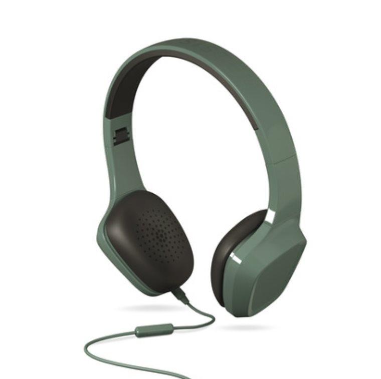ENERGY Headphones 1 Green Mic, stylová sluchátka, audio jack 3,5mm, 93 ±3 dB