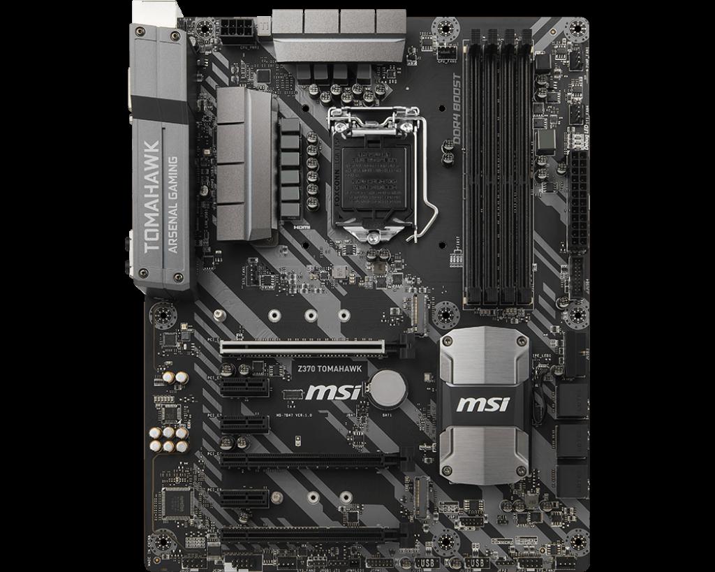 MSI Z370 TOMAHAWK s.1151, Z370, 4x PCI-E x1, 2x PCI-E x16, 4x DDR4, SATA III, USB 3.1, DVI, HDMI, ATX