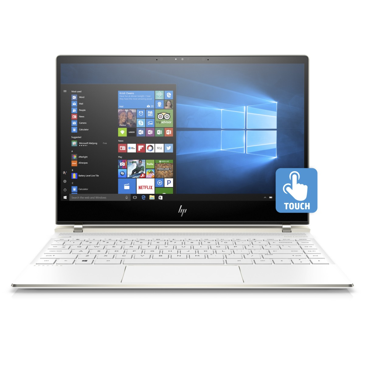 "HP Spectre 13-af002nc/Intel i5-8250U/8GB DDR4/360GB SSD/13,3"" FHD Touch/Intel HD/Win 10/Bílá"