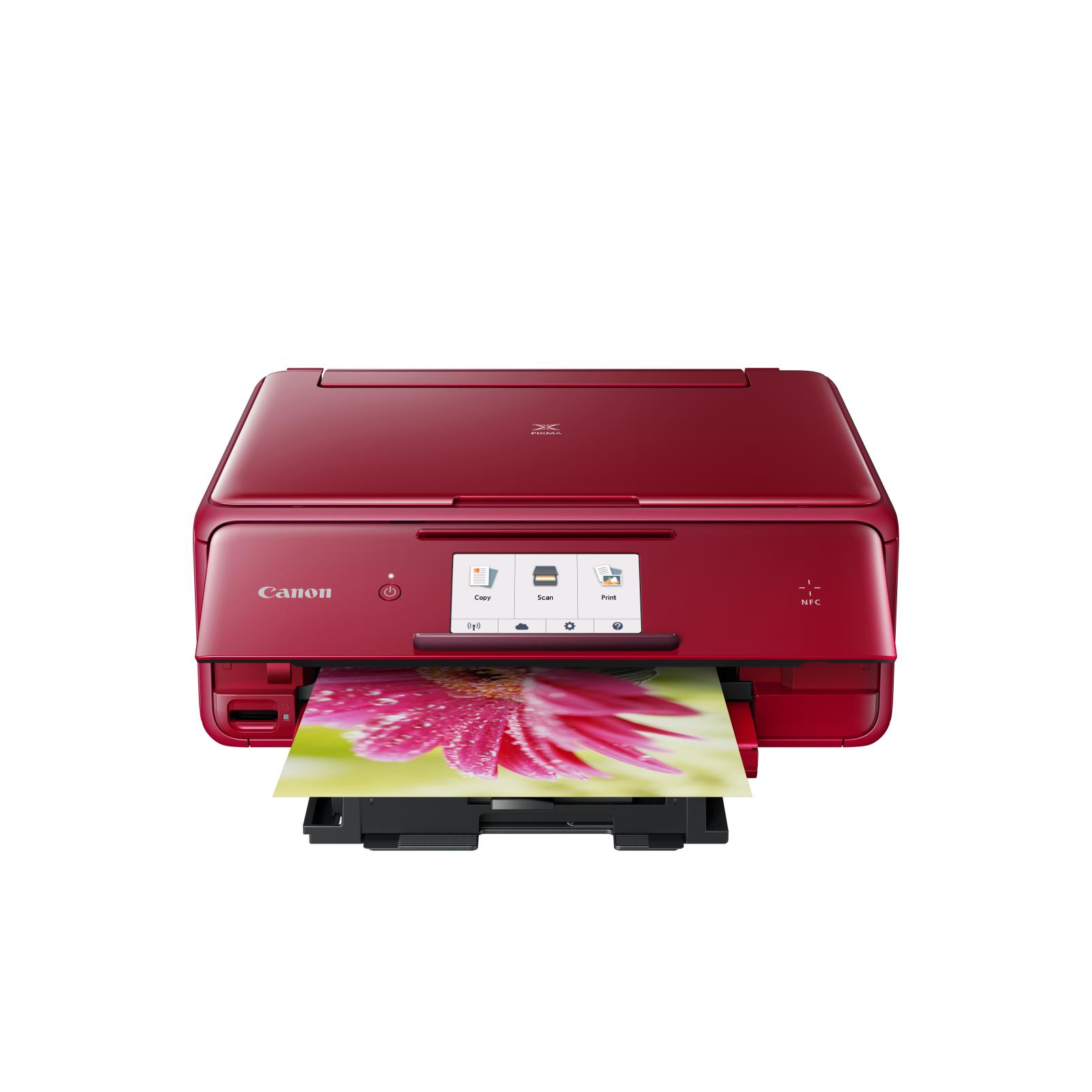 Zlevněné zboží: Canon PIXMA TS8052 - PSC/NFC/Wi-Fi/AP/WiFi-Direct/Duplex/PictBridge/PotiskCD/9600x2400/USB red