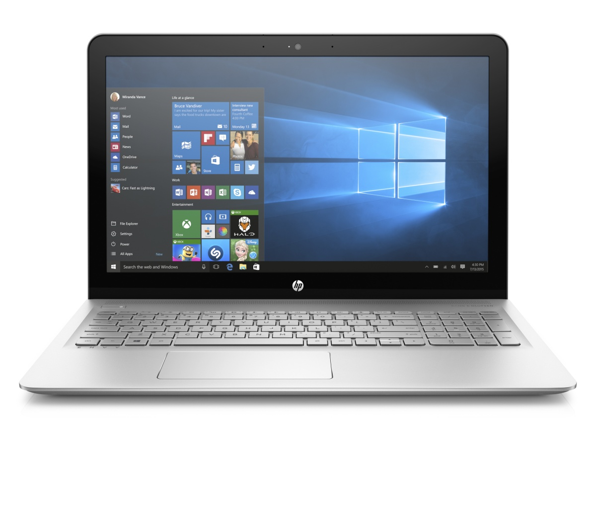 HP Envy 15-as105nc UHD i7-7560U/8GB/1TB+128SSD/2RServis/W10-silver