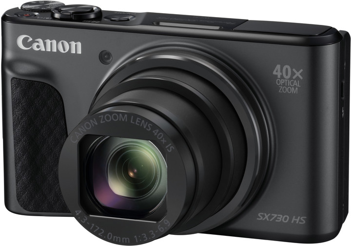 Canon PowerShot SX730HS, Black - 20MP, 40x zoom, 24-960mm, 3,0""