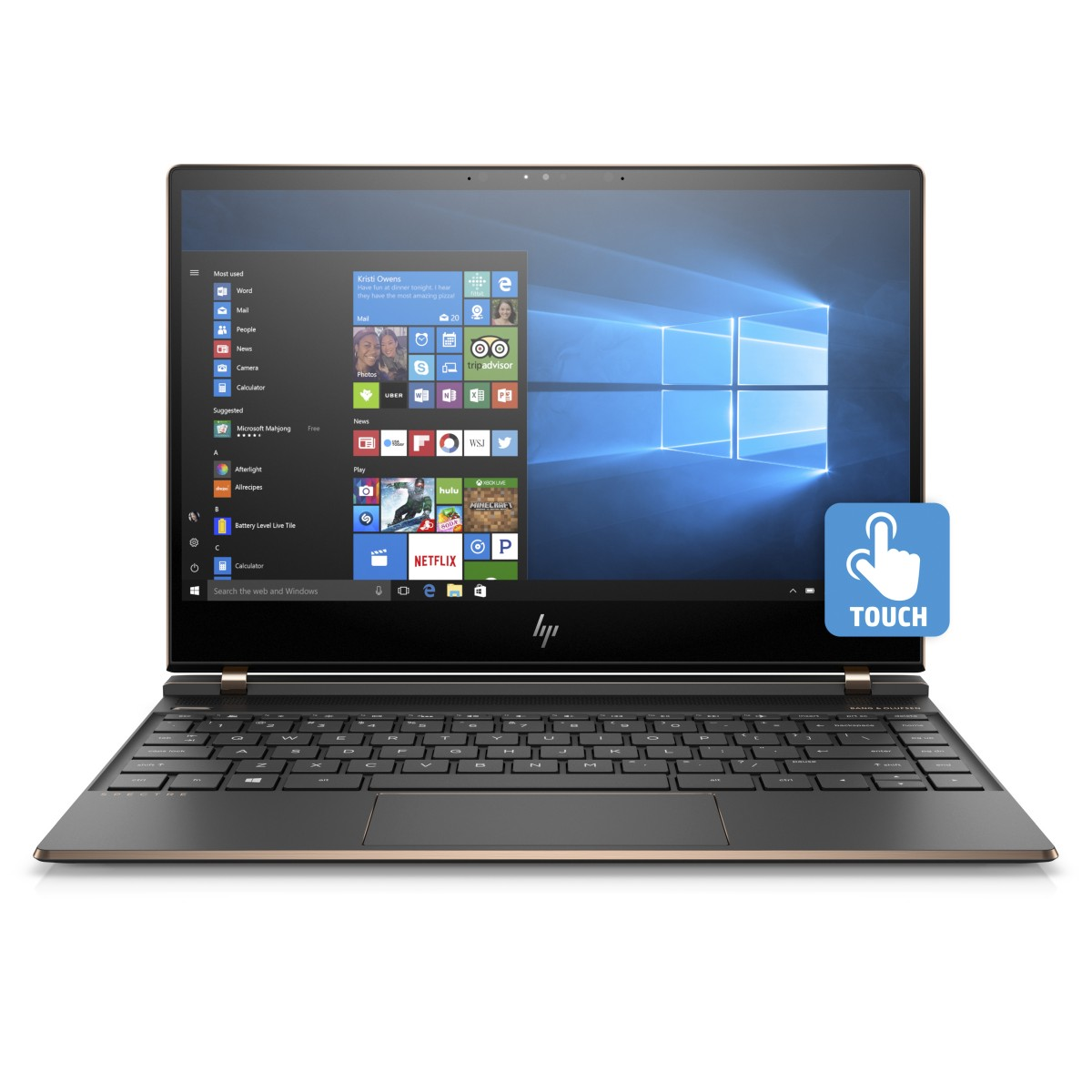 "HP Spectre 13-af008nc/Intel i7-8550U/16GB DDR4/512GB SSD/13,3"" FHD Touch/Intel HD/Win 10/černá"