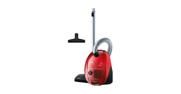 Siemens VSZ3B320 EEK: B, podlahový vysavač, hygienický filtr, třešeň červený / kovový