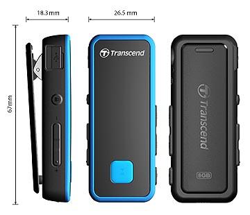 TRANSCEND MP3 Player MP350, 8GB, Black