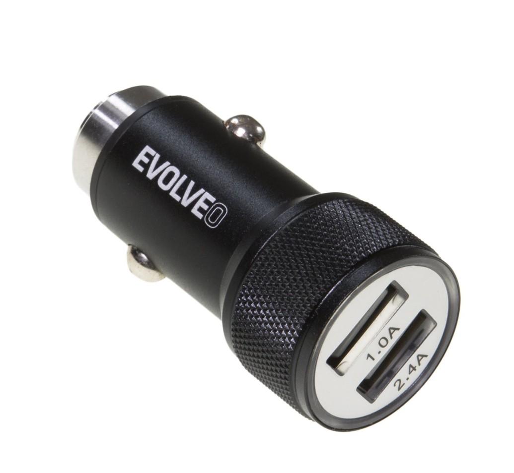 EVOLVEO MX240, 2x USB nabíječka do auta , 3.4A