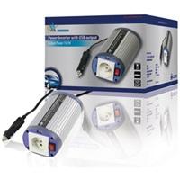 HQ INV150WU12F - Měnič napětí 12V/230V, 150 W, USB, zásuvka CZ