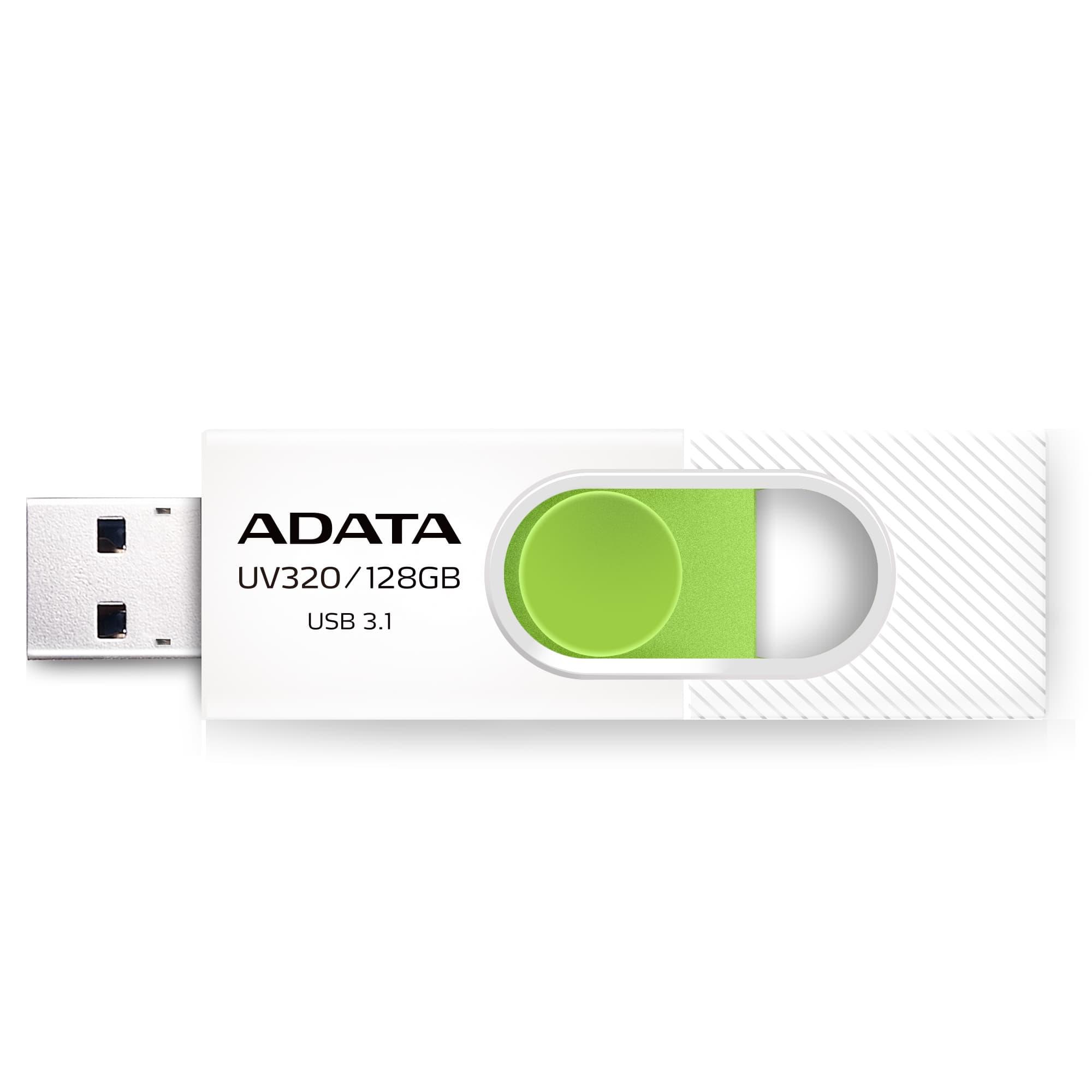 ADATA USB UV320 128GB white/green (USB 3.0)