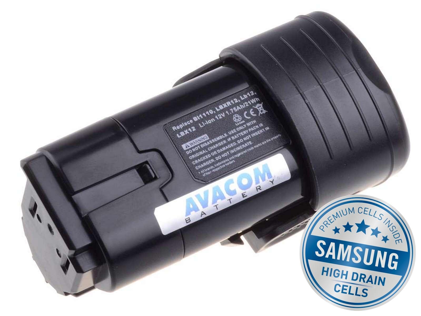 Baterie AVACOM BLACK & DECKER BL1310 Li-Ion 12V 2000mAh, články SAMSUNG