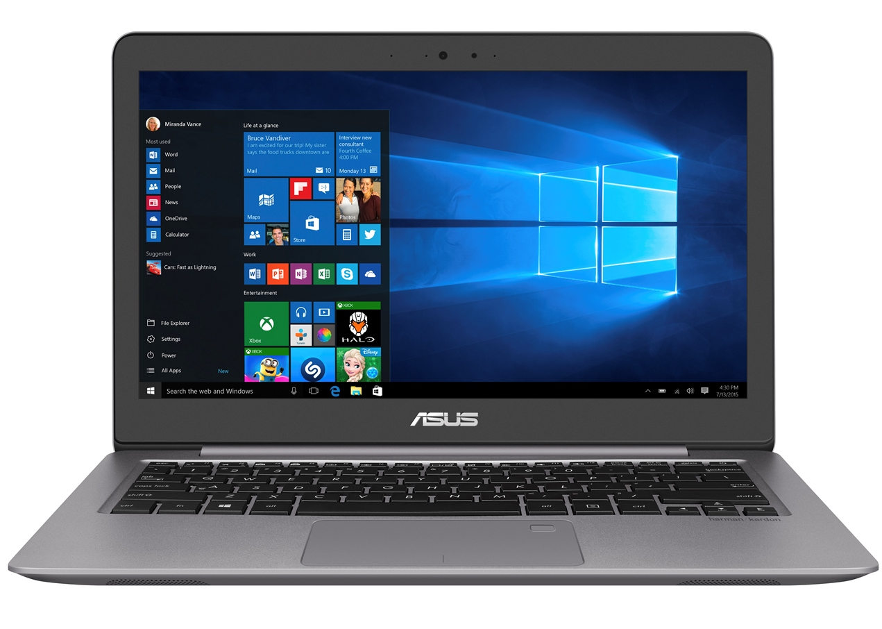 "ASUS UX310UA-FC892T i5-7200U/4GB/256GB SSD/HD graphics 620/13,3"" FHD IPS matný/BT/W10 Home/Grey"