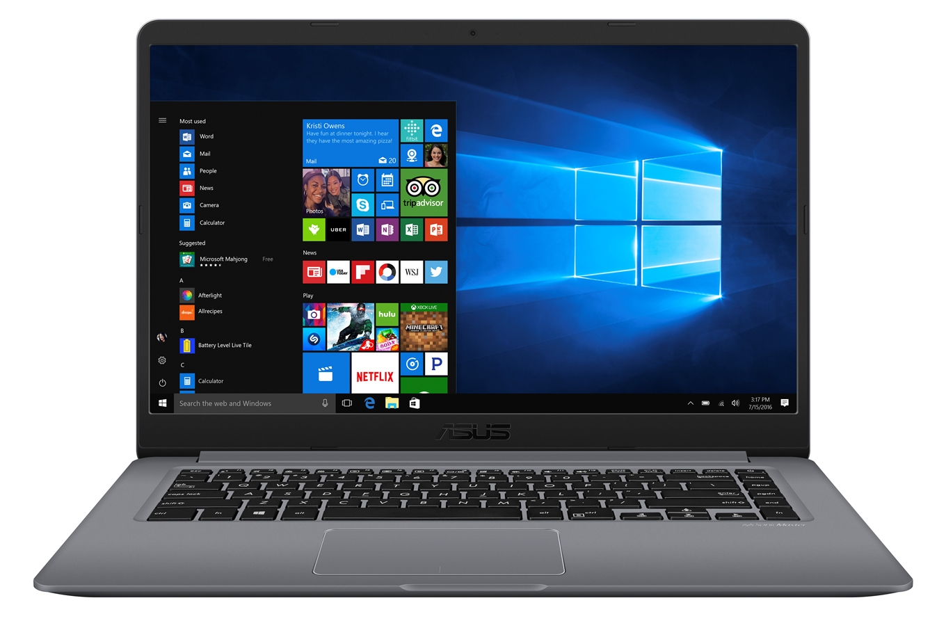 "ASUS S510UQ-BQ601T i5-7200U/8GB/256 GB M.2 SSD/GeForce 940MX/15,6"" FHD matný/W10 Home/Gray"