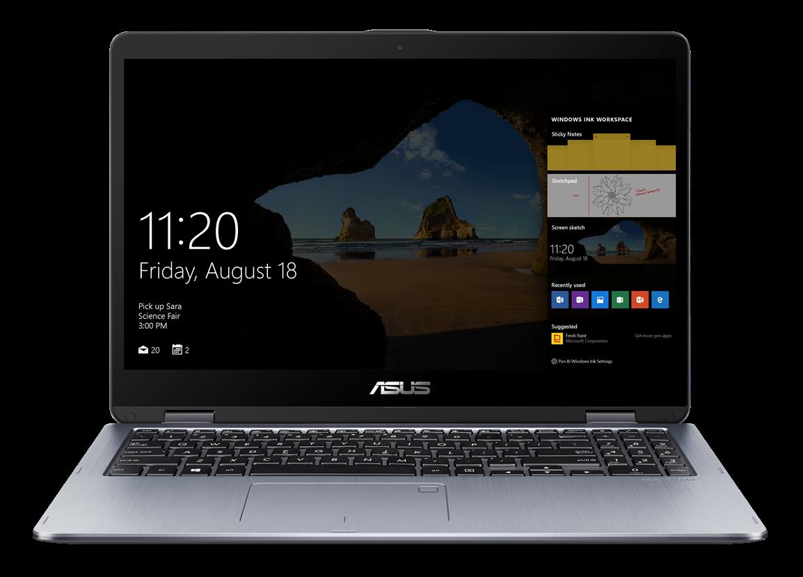 """ASUS TP510UA - 15,6T""""/i5-8250U/500GB/4G/W10 šedý + stylus"""